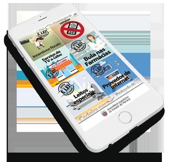 celular aplicativo AGORA É LEI NO PARANá